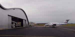Arrivée des premiers avions dans le bâtiment de l'IGN